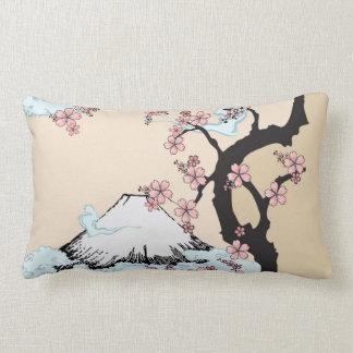 """Fuji and Sakura: Polyester Lumbar Pillow 13"""" x 21"""