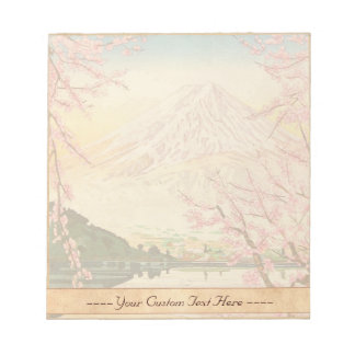 Fuji from Kawaguchi Okada Koichi shin hanga japan Notepad