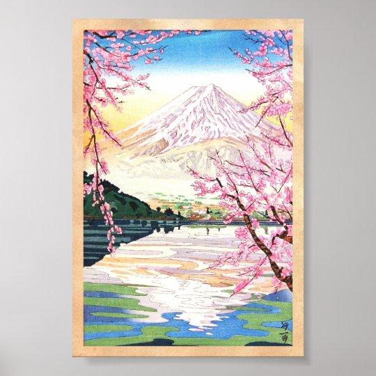 Fuji from Kawaguchi Okada Koichi shin hanga japan