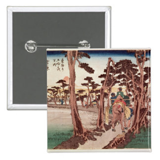 Fuji from Yoshiwara 15 Cm Square Badge