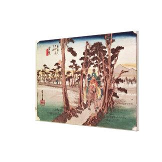Fuji from Yoshiwara Canvas Print