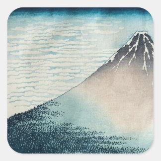Fuji in Clear Weather' Square Sticker