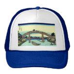 Fuji_seen_through_the_Mannen_bridge_at_Fukagawa.jp Trucker Hat