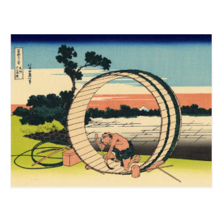 Fuji View Field in Owari Province (by Hokusai) Postcard