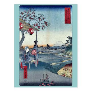 Fujimi Teahouse at Zoshigaya by Ando, Hiroshige Postcard