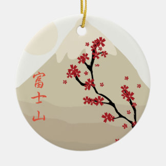 Fujisan: Mount Fuji Christmas Ornament