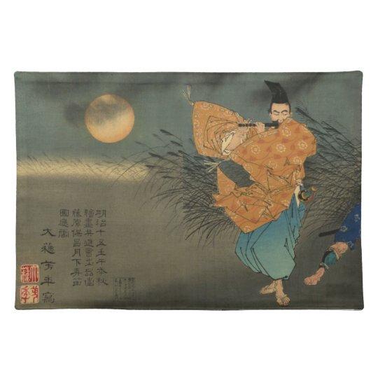 Fujiwara no Yasumasa Plays Flute By Moonlight Placemats
