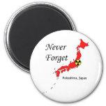 Fukushima, Japan Nuclear Disaster 6 Cm Round Magnet
