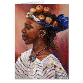 Fulani Amber Bead Girl Card