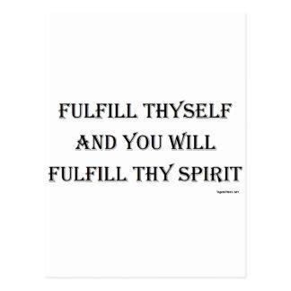Fulfill Thyself Postcard