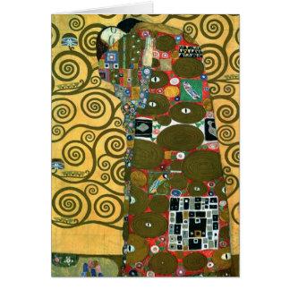 Fulfillment aka The Embrace by Gustav Klimt Card