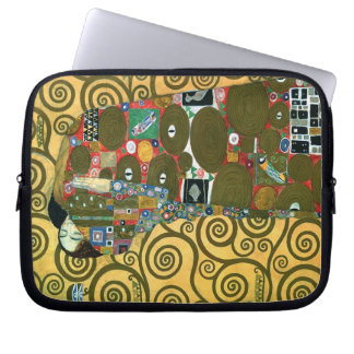 Fulfillment aka The Embrace by Gustav Klimt Laptop Computer Sleeve