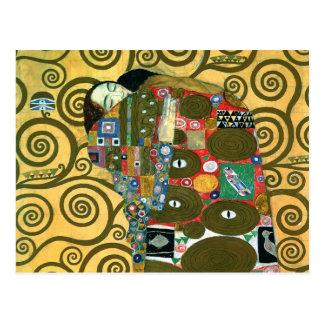 Fulfillment aka The Embrace by Gustav Klimt Postcard