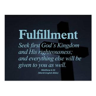 Fulfillment Matthew 6:33 Postcard