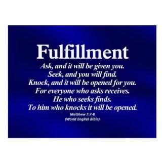 Fulfillment Matthew 7:7-8 Postcard