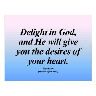Fulfillment Psalm 37:4 Abbrev Postcard