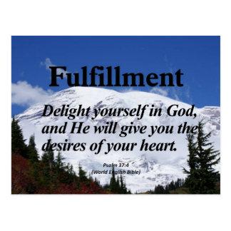 Fulfillment Psalm 37:4 Postcard