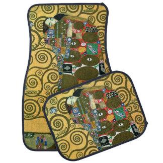 Fulfillment (The Embrace) by Gustav Klimt Floor Mat