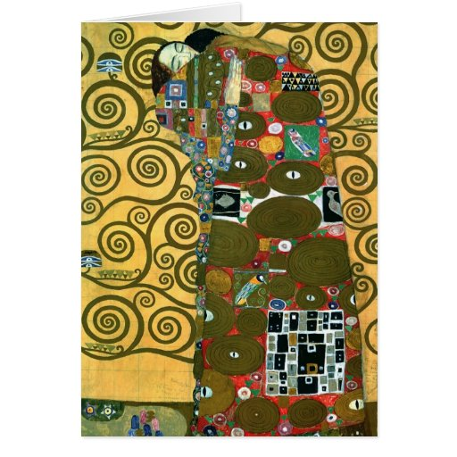 Fulfillment (The Embrace) by Gustav Klimt Greeting Card