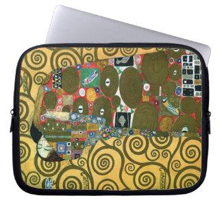 Fulfillment (The Embrace) by Gustav Klimt Laptop Computer Sleeve
