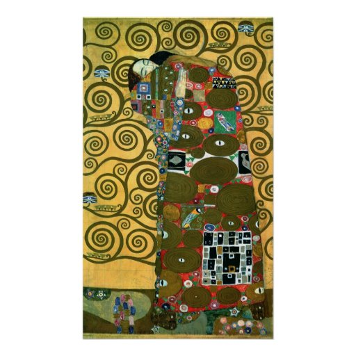 Fulfillment (The Embrace) by Gustav Klimt Print