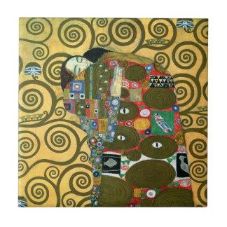 Fulfillment The Embrace by Gustav Klimt Ceramic Tiles