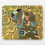 Fulfilment (The Embrace) by Gustav Klimt Mousepad
