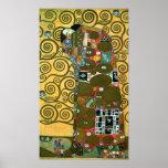 Fulfilment (The Embrace) by Gustav Klimt Poster