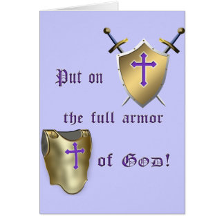 Full Armor of God Greeting Card