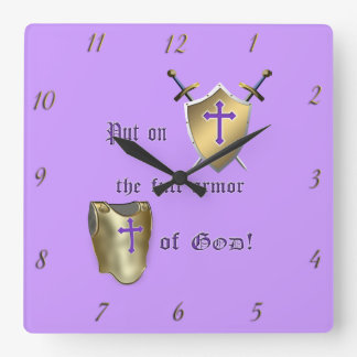 Full Armor Of God Wall Clock