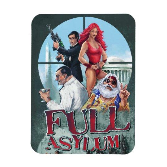 Full Asylum Refrigerator Magnet