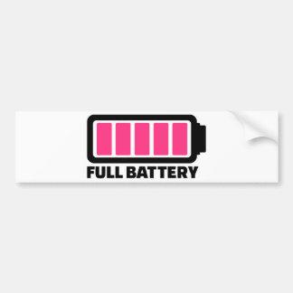 Full battery bumper stickers