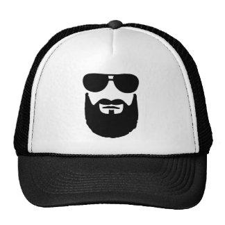 Full beard sunglasses cap