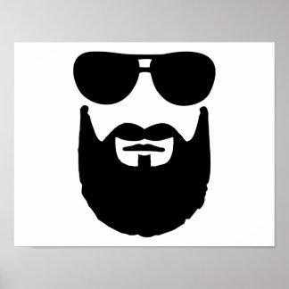Full beard sunglasses poster