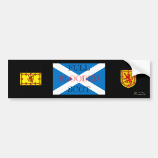 FULL BLOODED SCOT BUMPER STICKER