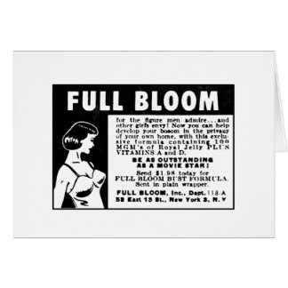 Full Bloom - Breast Enhancing Vitamins Card