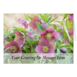 Full Bloom - Hellebores! Card
