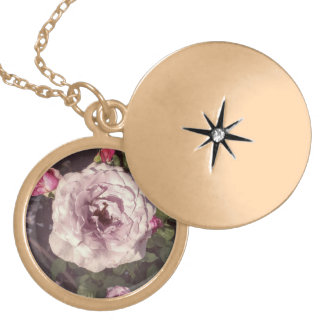 Full Bloom Pink Rose Women's Necklace