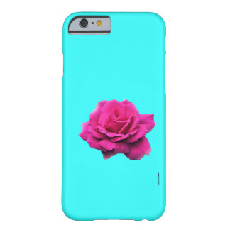 FULL BLOWN ROSE AGAINST LIGHT AQUA/ IP5 BARELY THERE iPhone 6 CASE