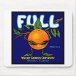Full Brand Oranges Label Mouse Pad
