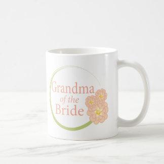 Full Circle Floral Grandma of the Bride Basic White Mug
