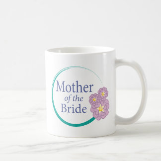 Full Circle Floral Mother of the Bride Coffee Mugs