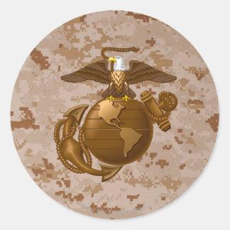 Full-Color EGA - Bronze Classic Round Sticker