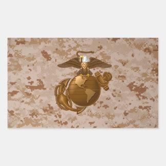 Full-Color EGA - Bronze Rectangular Sticker