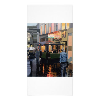 Full colour illustrated fine art photocard personalized photo card