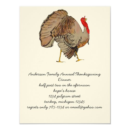 Full Colour Thanksgiving Turkey Card
