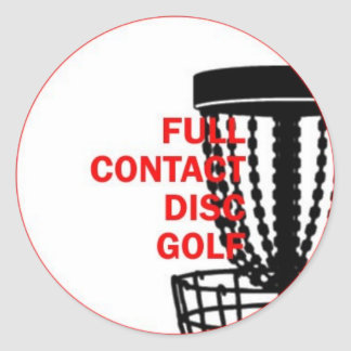 Full Contact Disc Golf Sticker