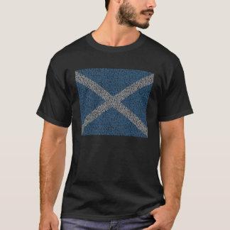 Full Declaration of Arbroath in a Saltire Design T-Shirt