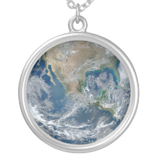 Full Earth 2012 Silver Plated Necklace