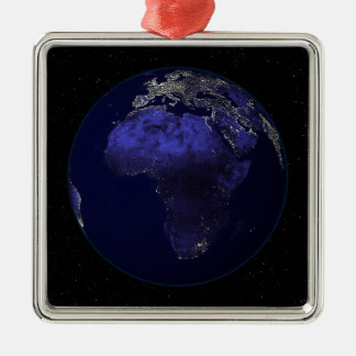 Full Earth at night showing Africa and Europe Christmas Ornament